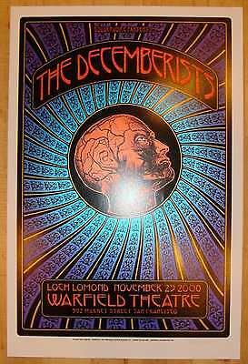 2008 The Decemberists - Warfield Silkscreen Concert Poster S/N by Dave Hunter