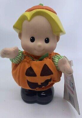 "NEW 1999 Fisher Price Little People 8"" Halloween Eddie Pumpkin Costume w/ Sounds"