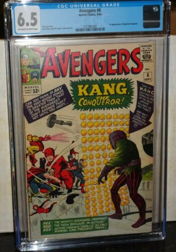 Avengers #8 (Marvel) CGC 6.5 1st Appearance Kang the Conqueror