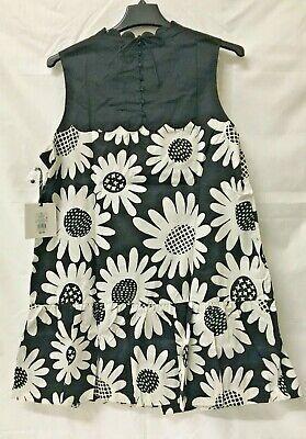 Victoria Beckham For Target Daisy Black/White Dress Sleeveless Sz 2x