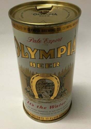 OLYMPIA BEER FLAT TOP BEER CAN, 11 OUNCES from Olympia, Washington USBC#109-9