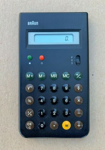 Vintage Dieter Rams BRAUN Calculator Type 4835 w/ Slipcase
