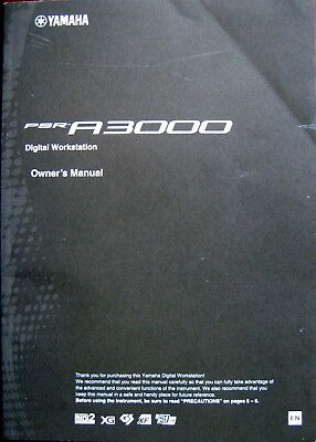 Used, Yamaha PSR-A3000 Digital Workstation Keyboard Original Owner's Manual Book for sale  Tallahassee