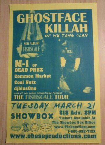 Ghostface Killah Wu Tang Clan M-1 dead prez 2006 Seattle Concert Original Poster
