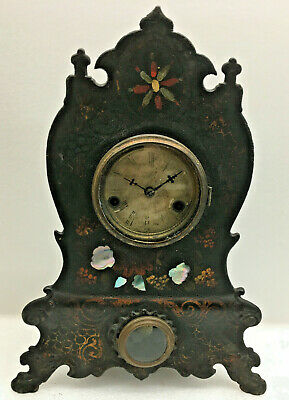 Antique American Clock Co. Iron Front Mantel Clock For Repair