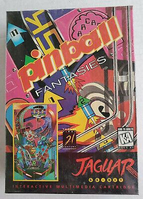 PINBALL FANTASIES Atari Jaguar Cartridge NEW Factory Sealed J0144E