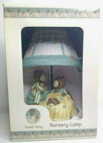 Kidsline Pocket Teddy Bear Ceramic Nursery Bedroom Table Lamp baby