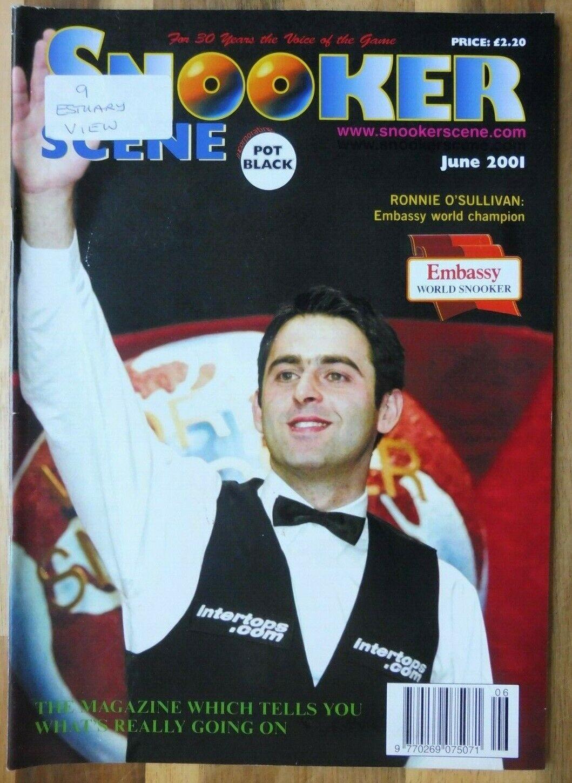 Snooker Scene Magazine, June 2001, Good Condition.