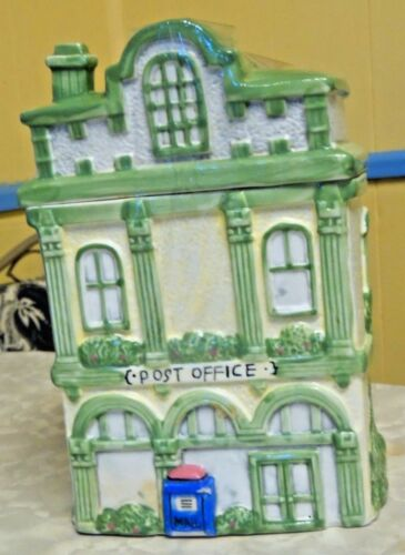 LARGE HEAVY CERAMIC VICTORIAN POST OFFICE COOKIE JAR