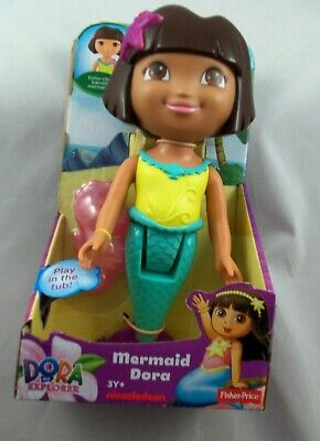 Dora the Explorer MERMAID Play in the Tub Color Change Barrette&Tail-#Y1425,NEW