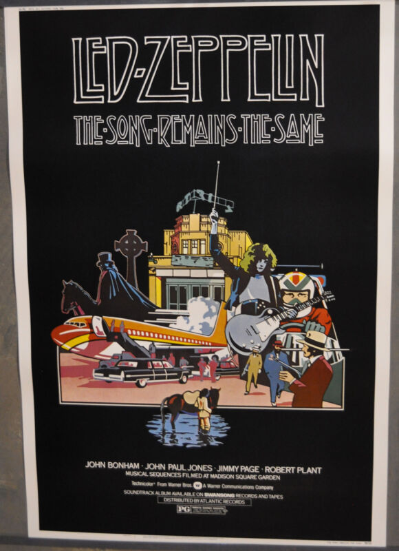 SONG REMAINS THE SAME 1976 ORIGINAL 40X60 MOVIE POSTER LED ZEPPELIN ROBERT PLANT