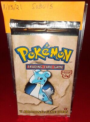 SEALED Pokemon 1st Edition Fossil Booster Pack Unweighed!!!!