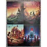 The Last Jedi Star Wars AMC IMAX mini posters set of 4  makes a nice gift