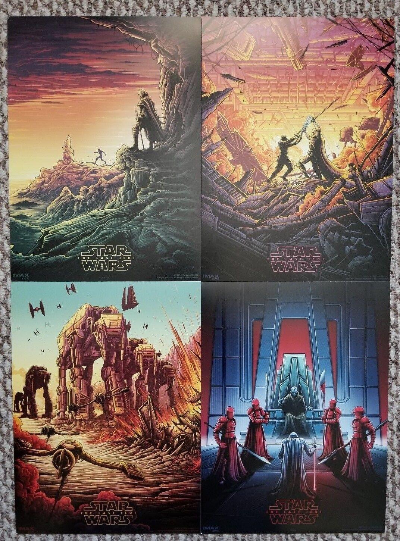 Купить The Last Jedi Star Wars AMC IMAX mini posters set of 4  makes a nice gift