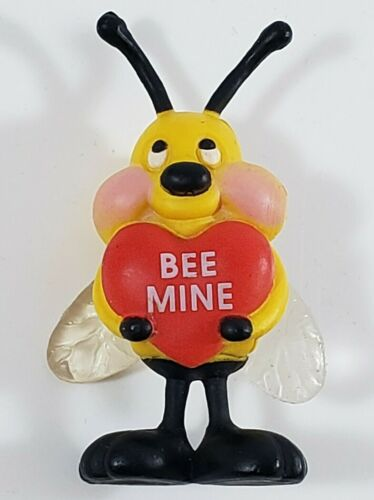 Vintage Gibson Valentine  Plastic Pin Bumble Bee Mine Signed GGI