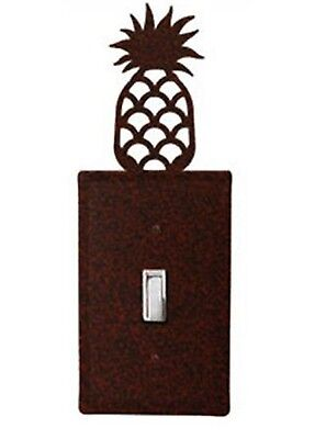 Rust Metal Pineapple Switchplate Wall Cover Outlet Toggle GFI Double Single -