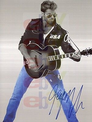 REPRINT RP 8x10 Signed Autographed Photo Picture: George Michael Wham