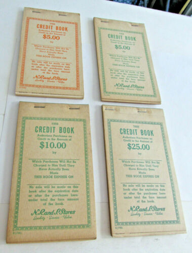 4 Diff N R And P New River & Pocahontas Coal Co Mine Company Store Credit Books