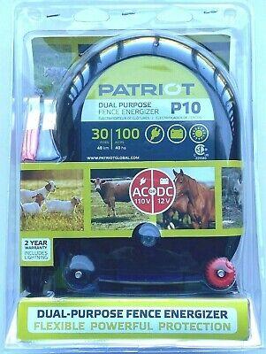 Patriot P10 Dual Purpose Electric Fence Energizer