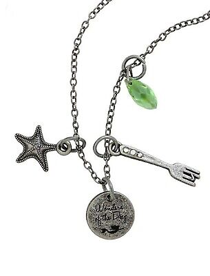 Disney The Little Mermaid Ariel Charm Necklace - Star Fish, Dinglehopper, Stone
