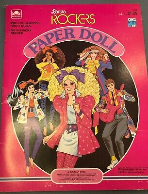 1986 Barbie and the Rockers Paper doll book Mattel 80's ROCKER Barbie Unused