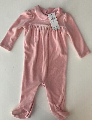 Ralph Lauren Baby Girls Pink Footed Romper (One-Piece) - Size 9 Months - NWT $39