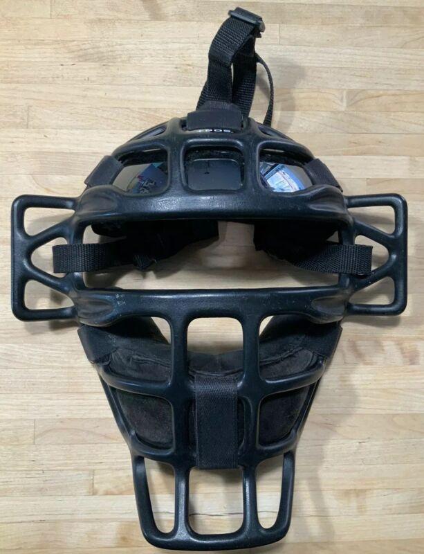 +POS Umpire Mask SUL200 SUPER Light Weight With Extras Rare Carbon Fiber