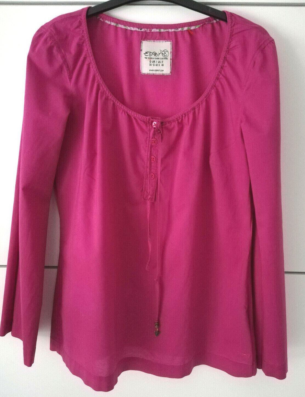 Esprit Damenbluse Schlupfbluse Tunika Pink Magenta Größe 38