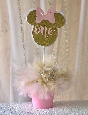 Minnie Mouse/ Minnie centerpieces stick/Minnie decorations/Minnie birthday party](Decoration Minnie Mouse)