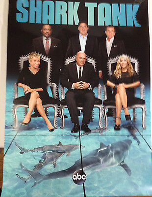 Shark Tank Promotional Poster ABC Television 27 x 40  excellent