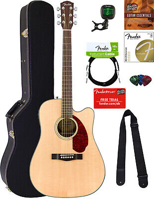 Fender CD-140SCE Dreadnought Acoustic-Electric Guitar - Natural w/ Hard Case