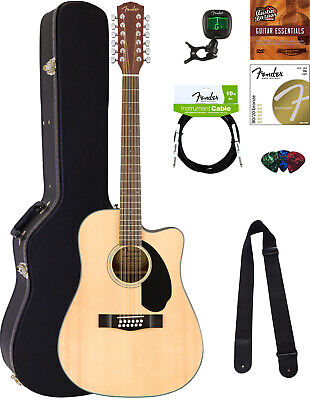 Fender CD-60SCE-12 Acoustic-Electric Guitar - 12 String, Natural w/ Hard Case