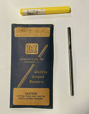 Li 14 .25 Straight Flute Chucking Reamer Hss 533 Made In Usa