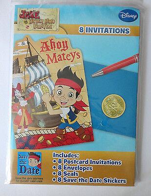 Disney Jake and the Neverland Pirates Birthday Invitation Cards 8 COUNT (Jake And The Neverland Pirates Birthday Invitations)