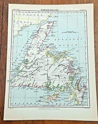 circa 1880s map of newfoundland !  ( adam & charles black )