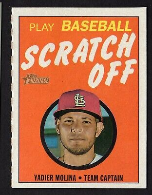 2019 HERITAGE SCRATCH OFF GAME CARD 7 YADIER MOLINA FREE SHIPPING