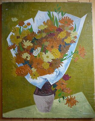 STEPHEN RONAY, LISTED NY NEW YORK MODERN MODERNISM FLOWERS IMPASTO IMPRESSIONIST