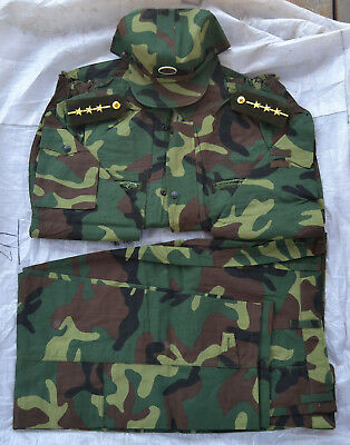 Chinese PLA Type 01-1 BDU ACU ARMY Wood Land Camo Uniform Jacket+ Trousers