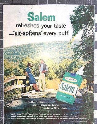 Life Magazine Ad SALEM Cigarettes Reverse HEUBLEIN Cocktails