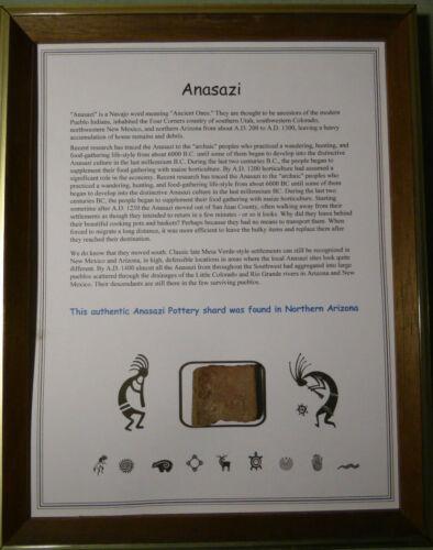 AUTHENTIC ANASAZI POTTERY SHARD DISPLAY CIRCA 1300 AD