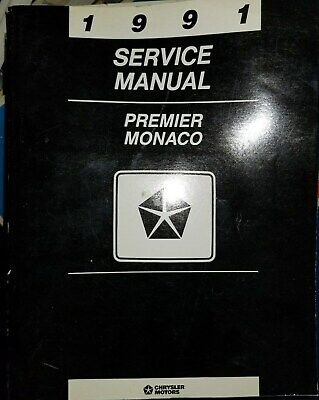1991 Dodge Eagle Premier Monaco Shop Service Manual Original