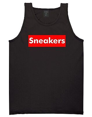 KINGS OF NY SNEAKERS TANK TOP T SHIRT SNEAKERHEAD  LOGO AF1 RED BOX DUNKS