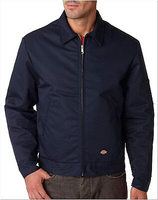 - Dickies TJ15 Dark Navy Lined Eisenhower Jacket Size M-5XL *Free US Shipping*