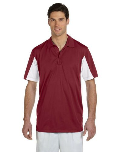 12 Custom Men & Women Sport Performance Color Block Micro Pique Polo Shirt $25
