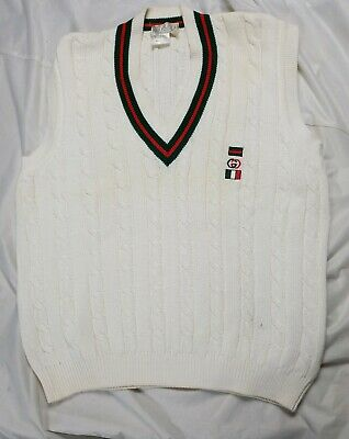 VIntage ICONIC GUCCI TENNIS VEST MADE Italy Sports Retro Vintage Fashion Couture
