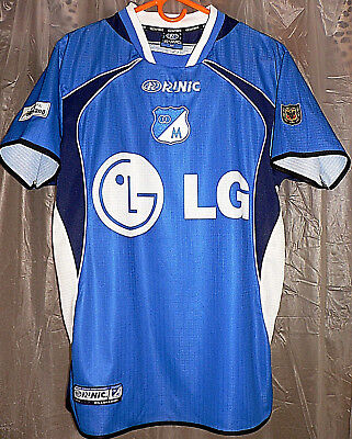 CLUB LOS MILLONARIOS COLOMBIA SOCCER TEAM HOME RUNIC RARE 2003 JERSEY ADULT M SZ image
