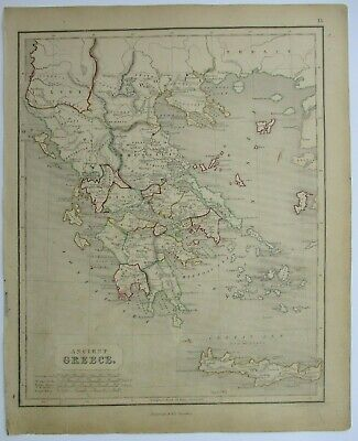 Antique Map of Greece by William & Robert Chambers 1845