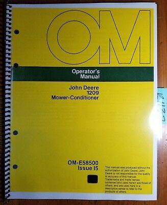 John Deere 1209 Mower-conditioner Sn 285001-335000 Owner Operator Manual I5 75