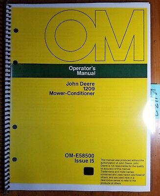 John Deere 1209 Mower-conditioner Sn 285001-335000 Owner Operator Manual I5 75