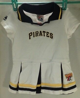 Pirate Baby Girl Costume (Baby Girl Cheerleader Cheer Outfit Dress Halloween Costume Pittsburg Pirates)